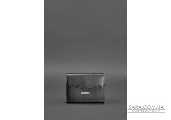 Жіноча шкіряна сумка поясна / кроссбоді Mini чорна - BN-BAG-38-2-g BlankNote