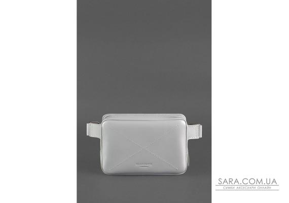 Шкіряна жіноча поясна сумка Dropbag Mini сіра - BN-BAG-6-shadow BlankNote