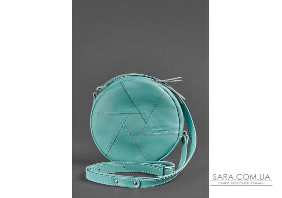 Шкіряна кругла жіноча сумка Бон-Бон бірюзова - BN-BAG-11-tiffany BlankNote