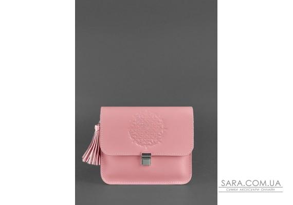 Шкіряна жіноча бохо-сумка Лілу рожева - BN-BAG-3-pink-peach BlankNote