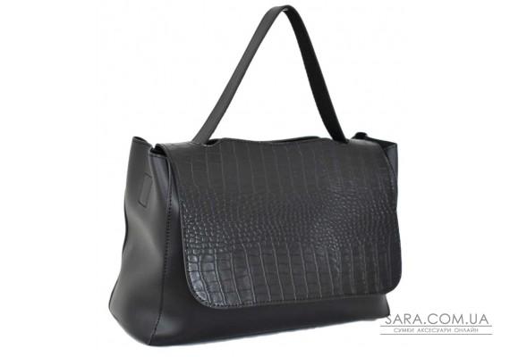 668 сумка крокодил чорна Lucherino