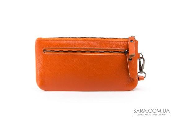Косметичка кожа A-00276-10 orange Podium