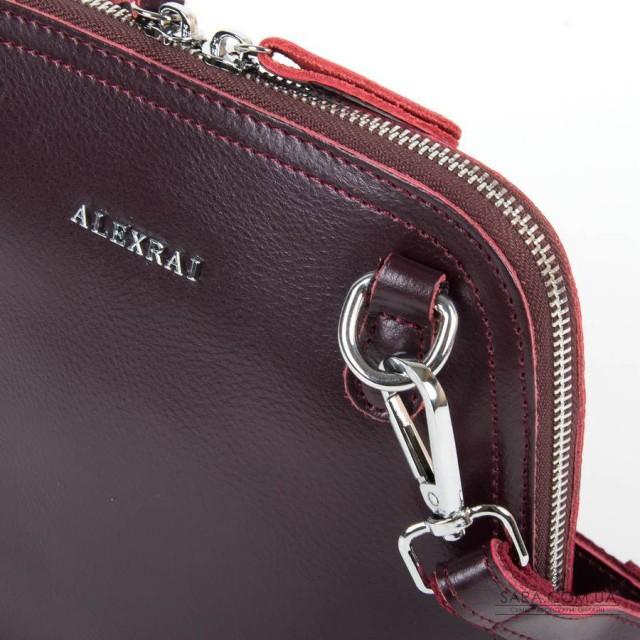Сумка Жіноча Класична шкіра ALEX RAI 05-01 8803 burgundi дешево.