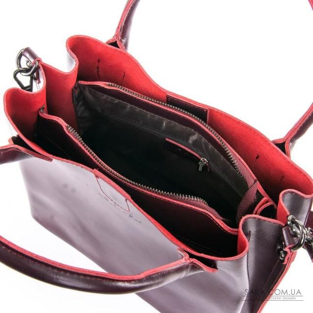 Сумка Жіноча Класична шкіра ALEX RAI 05-01 8784 red-wine дешево.