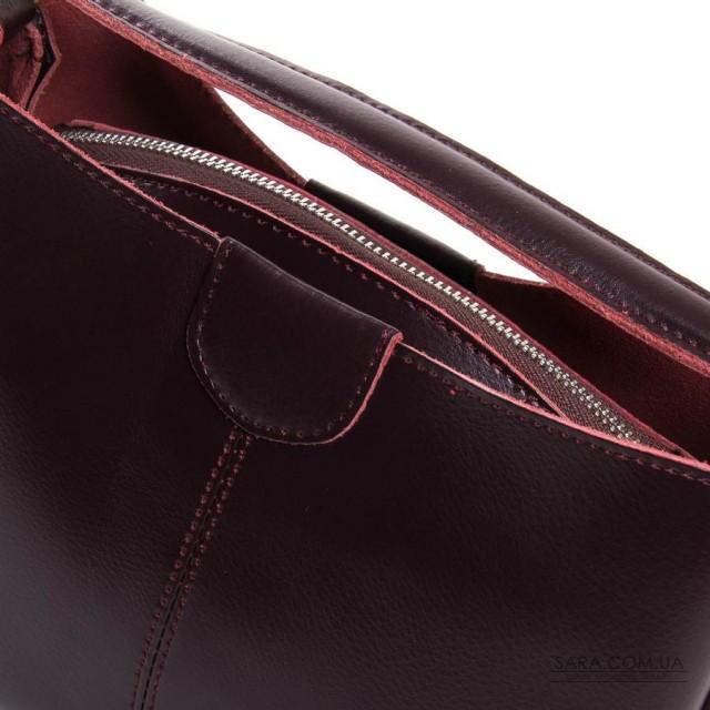 Сумка Жіноча Класична шкіра ALEX RAI 05-01 1383 burgundi дешево.