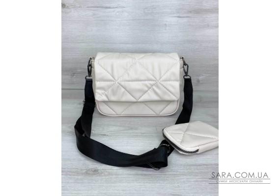 Жіноча сумка з гаманцем «Роуз» бежева WeLassie
