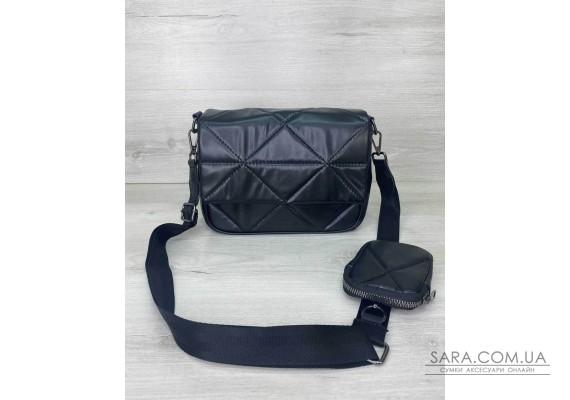 Жіноча сумка з гаманцем «Роуз» чорна WeLassie