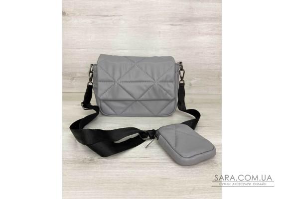 Жіноча сумка з гаманцем «Роуз» темно-сіра WeLassie