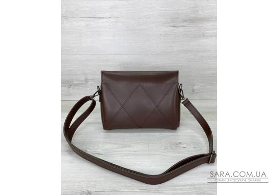 Жіноча сумка «Стелла» шоколадна WeLassie