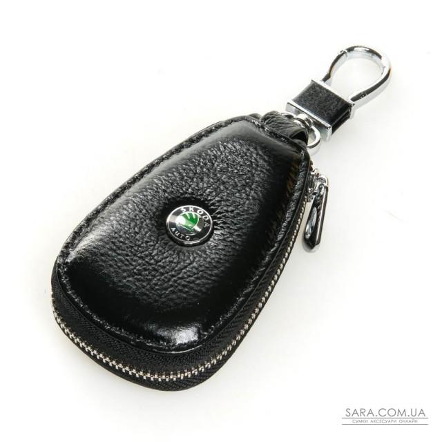 Автоключниця шкіра F633 Skoda black дешево.