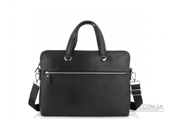 Сумка для ноутбука чорна шкіряна Tiding Bag A25F-9157-1A