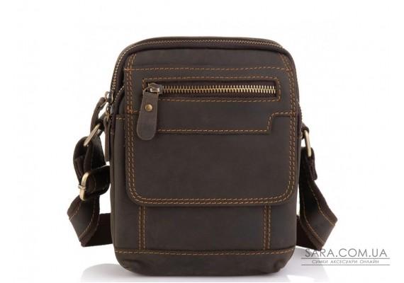 Чоловіча шкіряна сумка коричнева Tiding Bag t2101