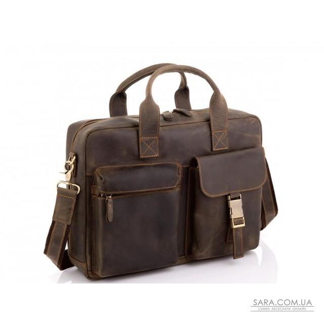 Вінтажна шкіряна сумка для ноутбука Tiding Bag D4-058R недорого