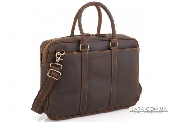 Вінтажна коричнева сумка для ноутбука Tiding Bag D4-023R