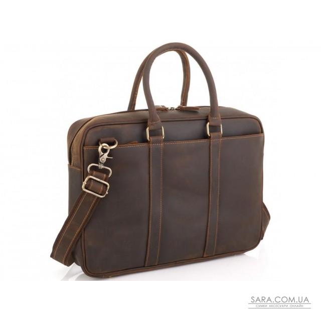 Вінтажна коричнева сумка для ноутбука Tiding Bag D4-023R недорого