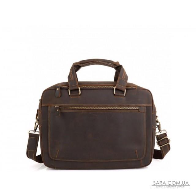 Вінтажна сумка для ноутбука коричнева Tiding Bag D4-005R недорого