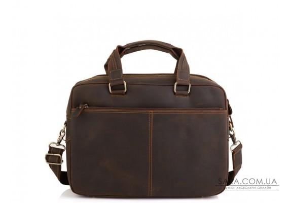 Вінтажна сумка для ноутбука коричнева Tiding Bag D4-005R