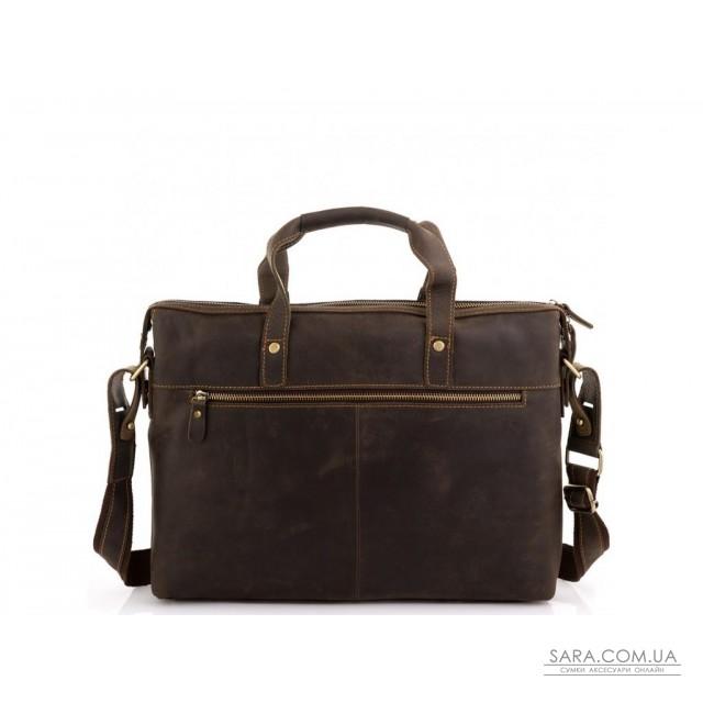 Ділова чоловіча шкіряна сумка для ноутбука і документів Tiding Bag D4-004R недорого