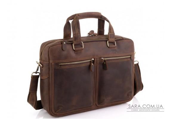 Сумка для ноутбука в вінтажному стилі чоловіча Tiding Bag D4-001R