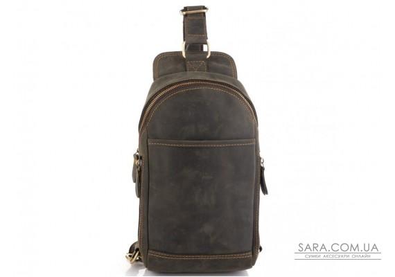 Сумка-слінг в вінтажному стилі коричнева Tiding Bag t2104
