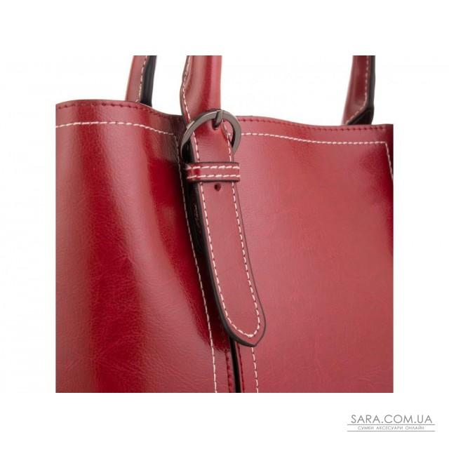 Жіноча шкіряна сумка бордова Grays GR3-8501R недорого