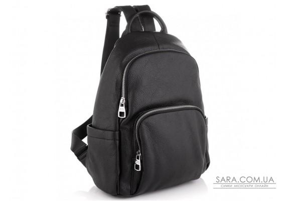Женский кожаный черный рюкзак Olivia Leather NWBP27-001A