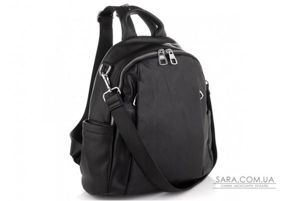 Женский черный кожаный рюкзак Olivia Leather NWBP27-002A