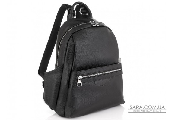 Женский черный кожаный рюкзак Olivia Leather NWBP27-007A