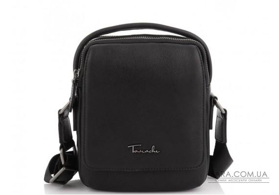 Шкіряна сумка через плече в чорному кольорі Tavinchi TV-009A