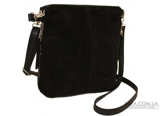 322 сумка черная замш нв Lucherino