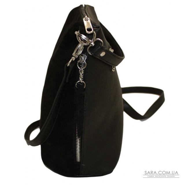 Купити 322 сумка чорна замш нв Lucherino дешево. Україна