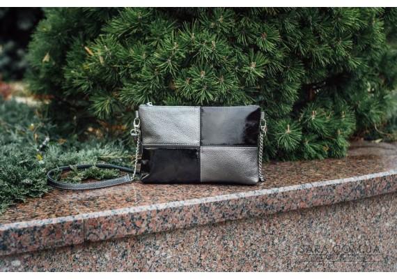 Женский клатч кожаный K030415-nikel никель наплак