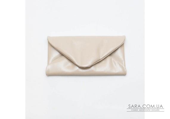 Женский клатч кожаный K020408-beige наплак светло-бежевый