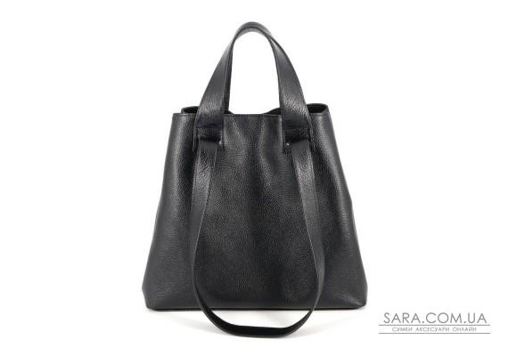 Сумка кожаная женская S560101-black черная