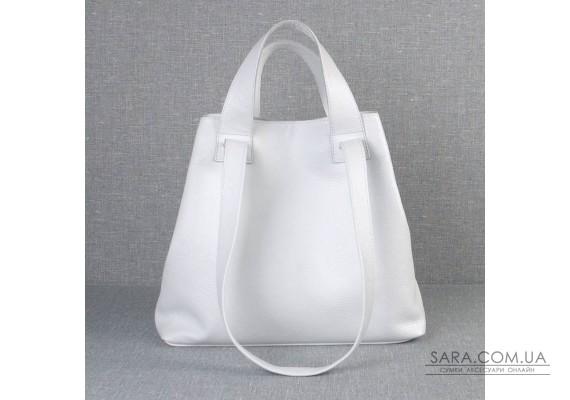 Сумка кожаная женская S560105-white белая