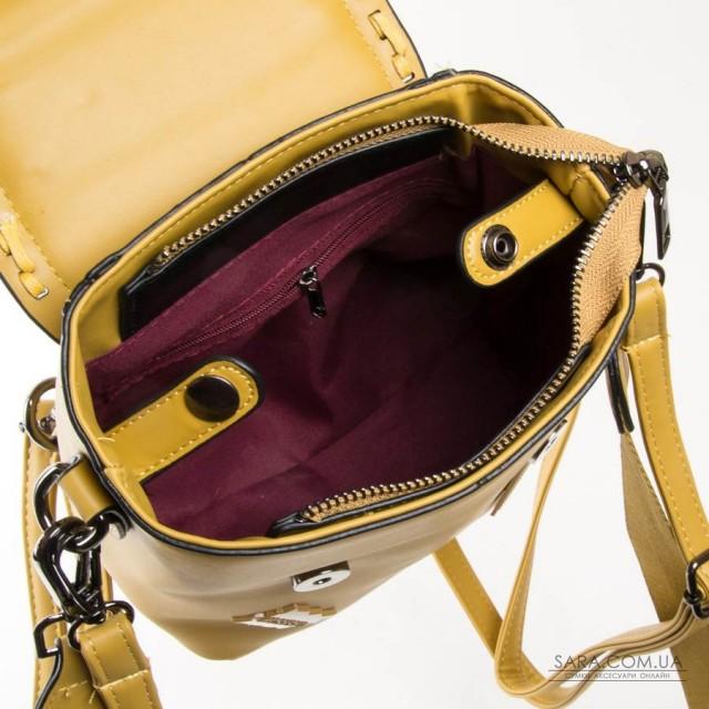 Сумка Жіноча Рюкзак шкірзамінник FASHION 01-02 7121-1 yellow Podium дешево.