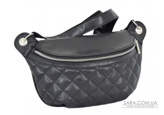 686 поясна сумка чорна Lucherino