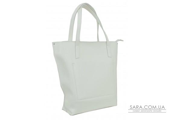 641 сумка екошкіра біла Lucherino