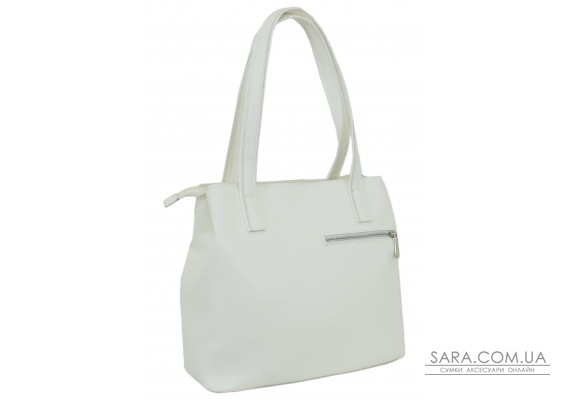 687 сумка єкошкіра біла Lucherino