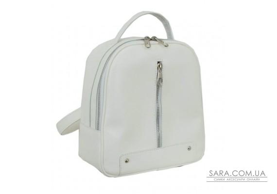 643 рюкзак экокожа белый Lucherino