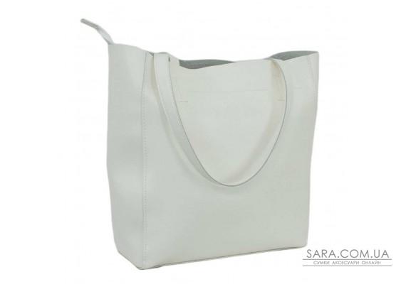 518 сумка екошкіра біла Lucherino