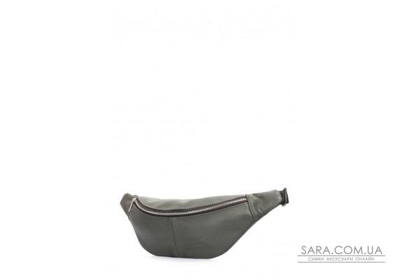 Бананка з натуральної шкіри PLPRT (waistbag-leather-darkgreen)