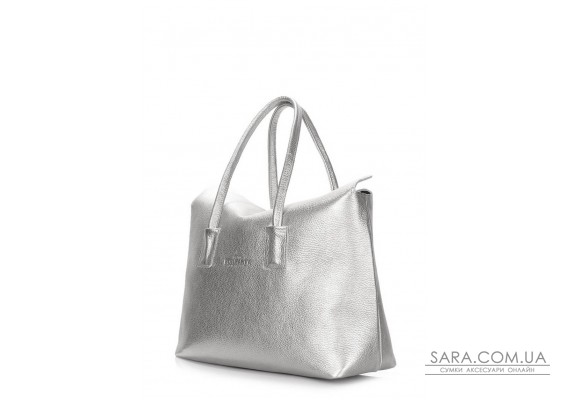 Шкіряна сумка POOLPARTY Sense (sense-silver)