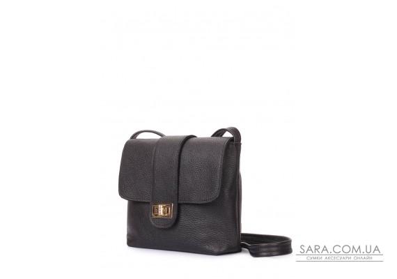 Шкіряна сумка на плече POOLPARTY Kiki (kiki-leather-black)