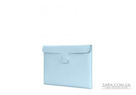 """Кожаный чехол для MacBook 13"""" голубой (macbook-case-babyblue)"""