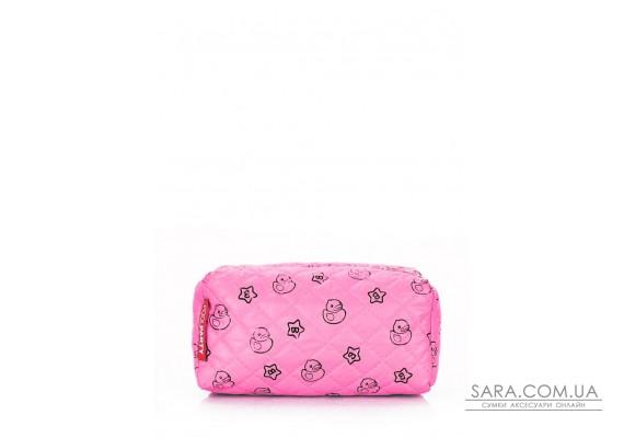 Рожева косметичка з качечкою POOLPARTY (cosmetic-rose-ducks)