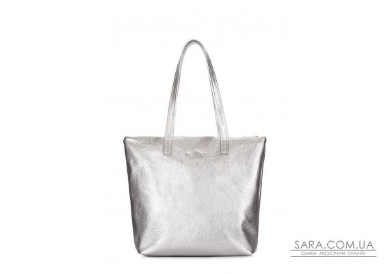 Срібна шкіряна сумка Secret (secret-silver)
