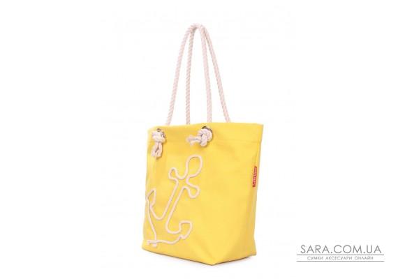 Летняя сумка с якорем POOLPARTY (anchor-oxford-yellow)
