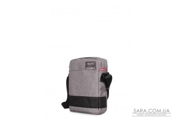 Чоловіча сумка на плече POOLPARTY (pool-94-oxford-grey)