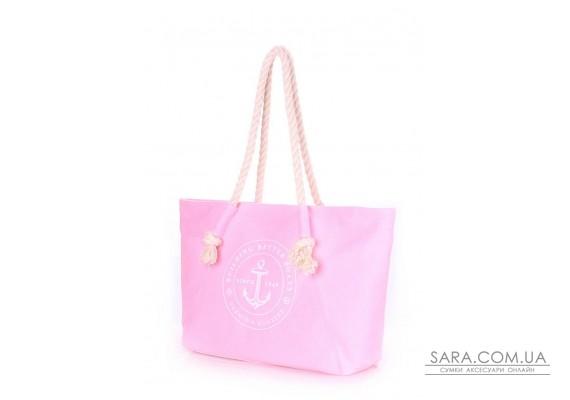 Розовая летняя сумка Breeze с морским принтом (breeze-oxford-rose)